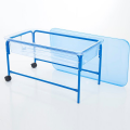 58cm Clear Water Play Table,58cm Clear Sand and Water Play Tray with Blue Stand,childrens water tray table,childrens sand and watertray table,school water table,sensory play table